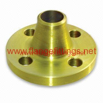 yellow-golden-painting-weld-neck-flanges